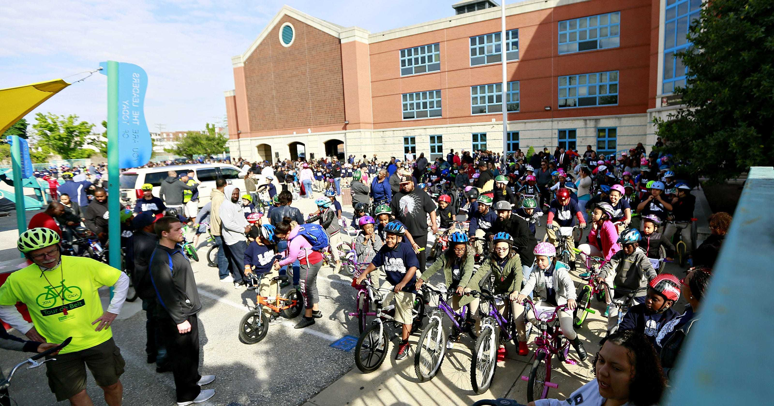 Students are ready to ride